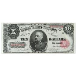 1891 $10 Treasury (Sheridan) Note. FR# 370.