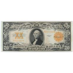 1922 $20 Gold Certificate Note. FR# 1187.
