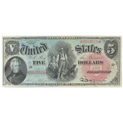 1869 $5 Legal Tender (Rainbow) Note. FR# 64.