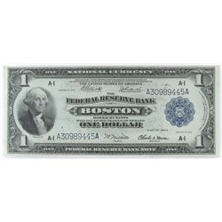 1918 $1 Federal Reserve Note - Boston. FR# 710.