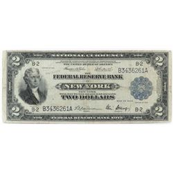 1918 $2 Federal Reserve (Battleship) Note - New York. FR# 751.