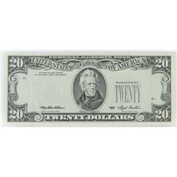 Error Note: 1993 $20 Federal Reserve Note - 3rd Printing on Reverse.
