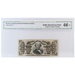 Fractional Currency: Third Issue 50 Cents. FR# 1324. CGA Certified GU66.