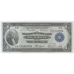 1918 $1 Federal Reserve Note - Richmond. FR# 721.