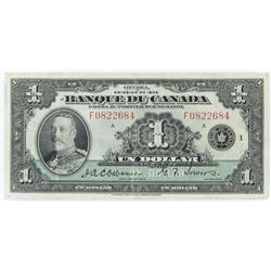 1935 $1 Bank of Canada - French Text.