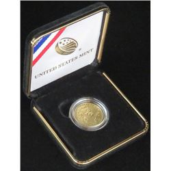 2016 $5 Mark Twain Commemorative Gold. In box with certificate.