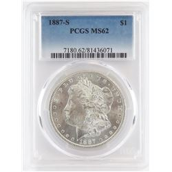 1887 S Morgan Dollar. PCGS Certified MS62.