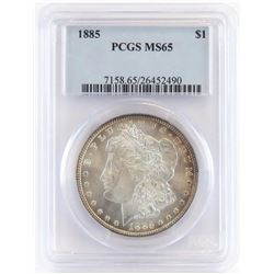 1885 Morgan Dollar. PCGS Certified MS65.