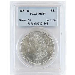 1887 O Morgan Dollar. PCGS Certified MS64.