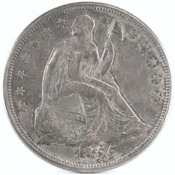 1855 Seated Liberty Dollar. Only 26,000 minted!