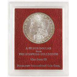 1889 Morgan Dollar from the Redfield Collection MS65.