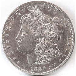 1886 S Morgan Dollar.