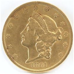 1861 $20 Liberty Gold - Civil War Begins!