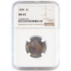 1888 Liberty Nickel. NGC Certified MS65.