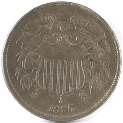 1865 Two Cent Piece.