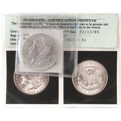 1903 O Morgan Dollar. NCI Certified MS65.