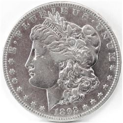1892 S Morgan Dollar.