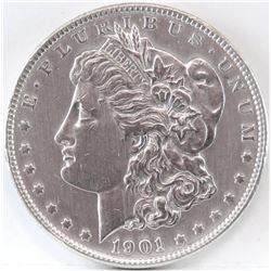 1901 Morgan Dollar.