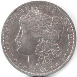1893 O Morgan Dollar.