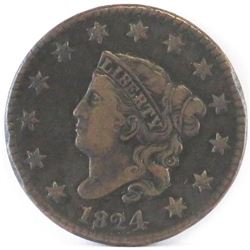 1824 Coronet Head Large Cent.