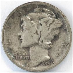1942/1 Mercury Dime. Key!