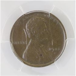 1918 S Lincoln Wheat Cent. PCGS Certified MS64BN.