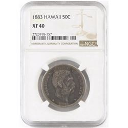 1883 Hawaii Half Dollar. NGC Certified XF40.