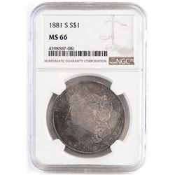 1881 S Morgan Dollar. NGC Certified MS66.