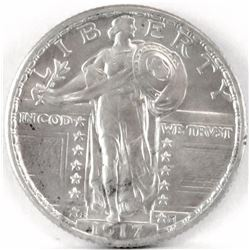 1917 S Ty.2 Standing Liberty Quarter.