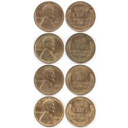 Lot of (4) Lincoln Wheat Cents includes 1918, 1920, 1927  1929.