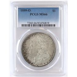 1899 O Morgan Dollar. PCGS Certified MS66.