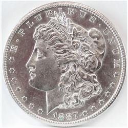 1887 S Morgan Dollar.