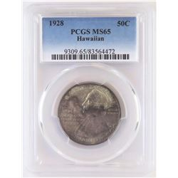 1928 Hawaiian Commemorative Half Dollar. PCGS Certified MS65.