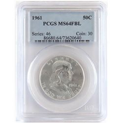 1961 Franklin Half Dollar. PCGS Certified MS64FBL.