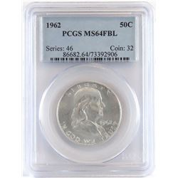 1962 Franklin Half Dollar. PCGS Certified MS64FBL.