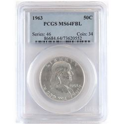 1963 Franklin Half Dollar. PCGS Certified MS64FBL.