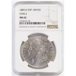 1887/6 Morgan Dollar - VAM 2 Top 100. NGC Certified MS62.