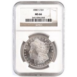 1880 S Morgan Dollar. NGC Certified MS66.