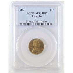 1909 Lincoln Wheat Cent. PCGS Certified MS65RD.