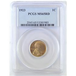 1923 Lincoln Wheat Cent. PCGS Certified MS65RD.