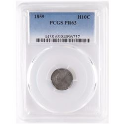 Proof: 1859 Seated Liberty Half Dime. PCGS Certified PR63.