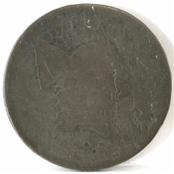 1795 Liberty Cap Half Cent - lettered edge with pole.