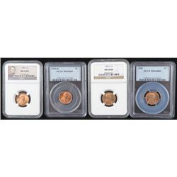 Lot of (20) Certified Lincoln Wheat Cents includes 1950 NGC MS66RD, 1950 D PCGS MS65RD, 1950 S NGC