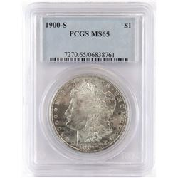 1900 S Morgan Dollar. PCGS Certified MS65.
