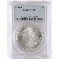 1885 S Morgan Dollar. PCGS Certified MS65.