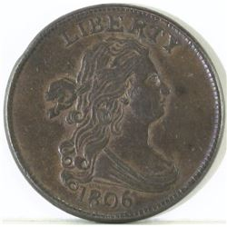 1806 Draped Bust Half Cent - Small 6 Stems.