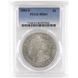 1883 S Morgan Dollar. PCGS Certified MS61.