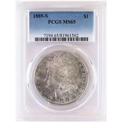 1889 S Morgan Dollar. PCGS Certified MS65.