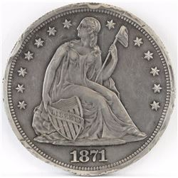 1871 Seated Liberty Dollar.