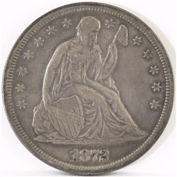 1872 S Seated Liberty Dollar.